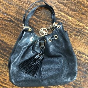 Michael Kors black slouch handbag